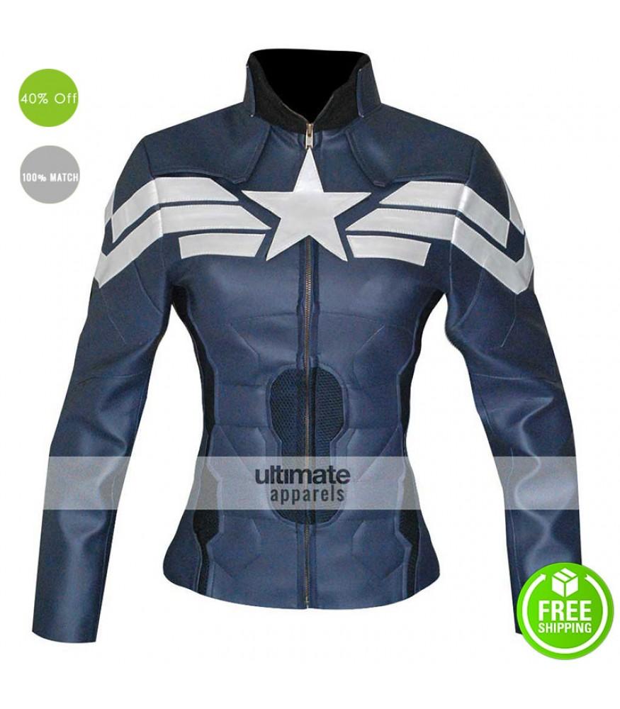 Captain America Winter Soldier Women Jacket Costume
