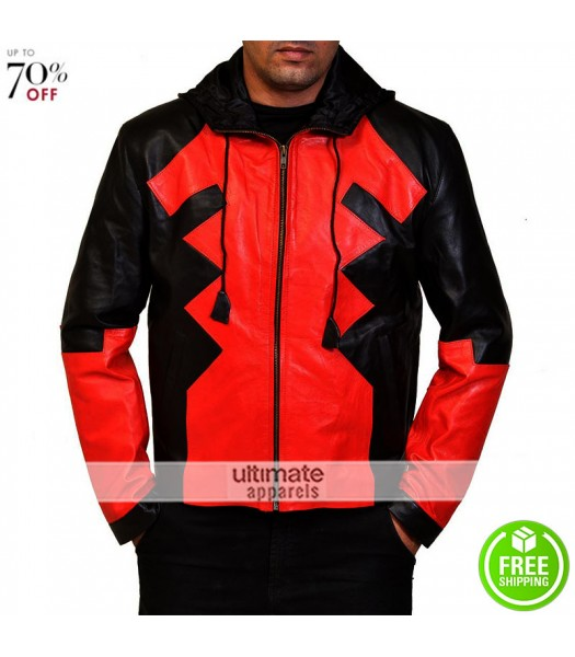 Deadpool Halloween Costume Hooded Athletic Jacket