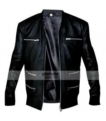 Eminem Grammy Awards Bear Collar Hooded Biker Jacket