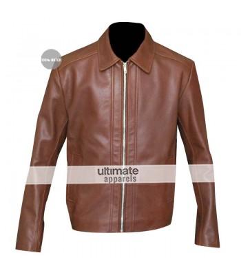 John Wick (Keanu Reeves) Brown Leather Jacket