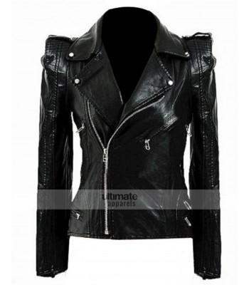 Kate Moss Women's Top-Shop Black Biker Jacket