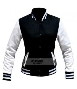 Kim Kardashian Black/White Varsity Bomber Jacket