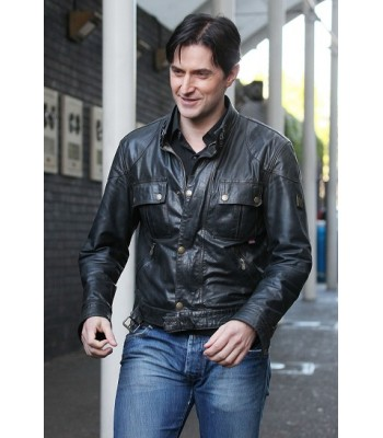 Richard Castle (Nathan Fillion) Black Leather Jacket