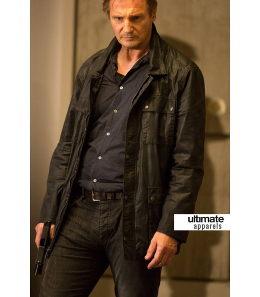 Taken 3 Liam Neeson (Bryan Mills) Black Jacket
