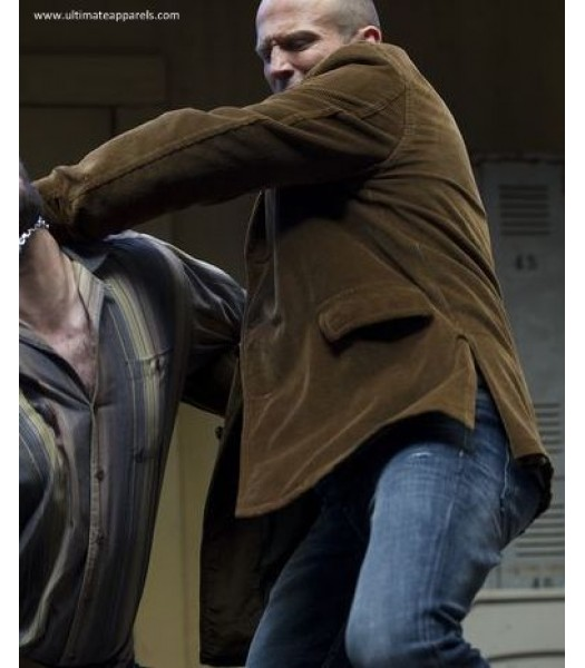 Wild Card Jason Statham Suede Leather Coat