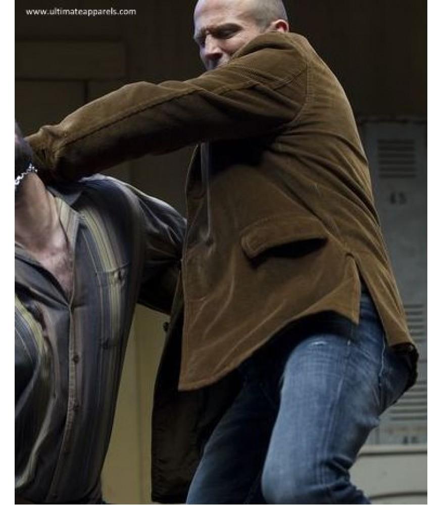 Wild Card Jason Statham Suede Leather Coat