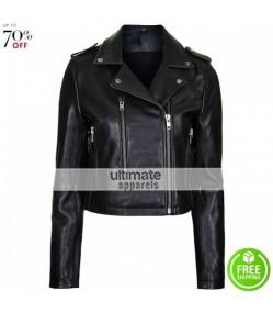 Bella Thorne Black Biker Jacket By Boutique