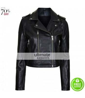 Bella Thorne Black Biker Jacket By Boutique