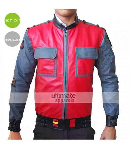 BTTF Back To The Future 2 Marty Mcfly 2015 Jacket