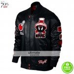 Jordan Marvin Bomber Mens Black/Red Gym Jacket