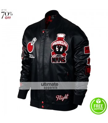 Jordan Marvin Bomber Mens Black/Red Gym Jacket