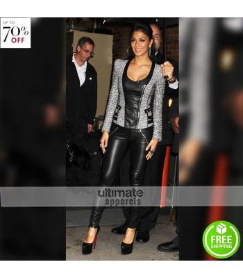 Nicole Scherzinger Black Leather Pant