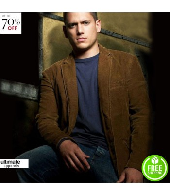 Prison Break S3 Michael Scofield Brown Leather Jacket