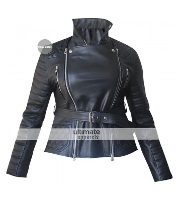 Rachel Bilson Burberry Prorsum Quilted Black Jacket