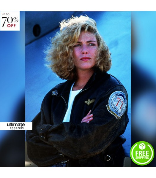 Top Gun Kelly McGillis Bomber Aviator Jacket
