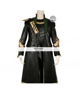 The Avengers Loki Cosplay Long Costume Jacket