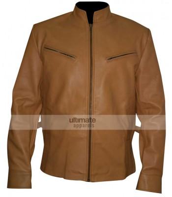 Next Nicolas Cage (Cris Johnson) Brown Biker Jacket