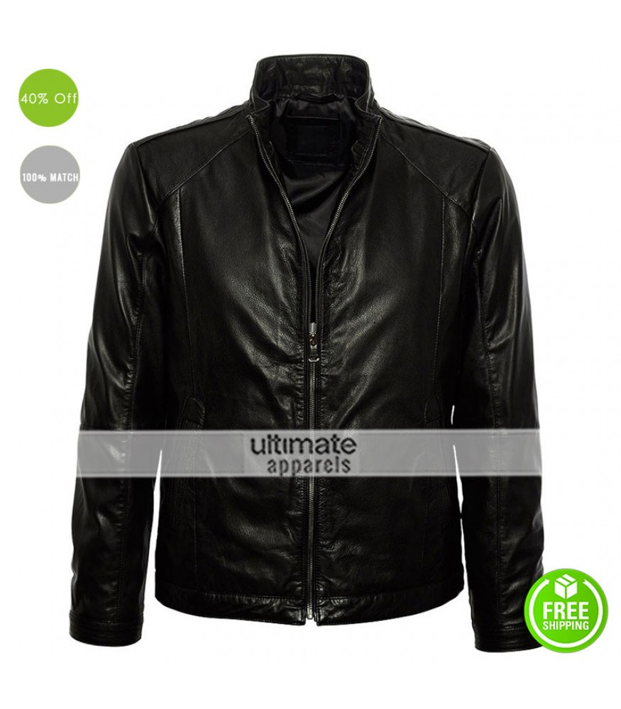 Hugo Boss Black Gento Men Leather Jacket