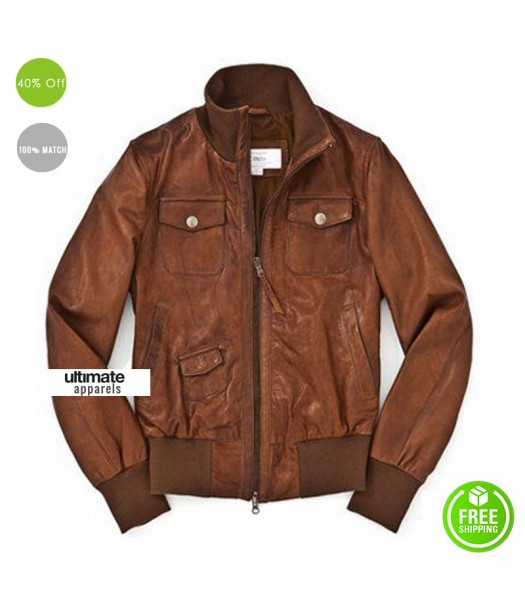 Marlboro Classics Brown Bomber Men Jacket