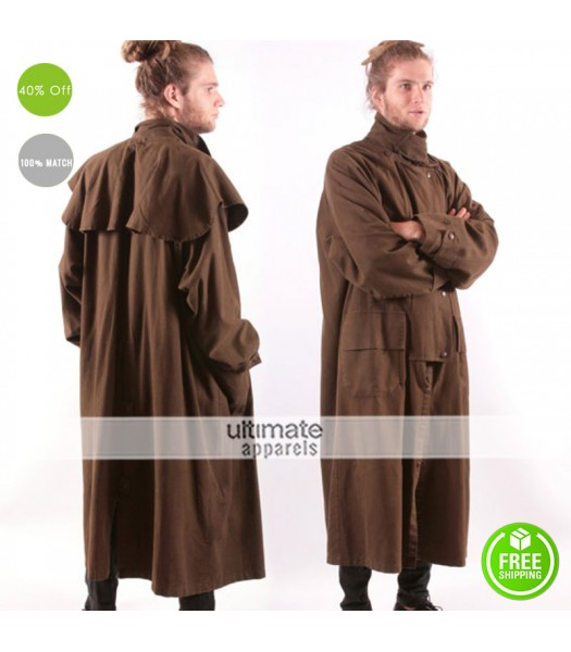 Marlboro Classics Vintage Steampunk Men Long Coat