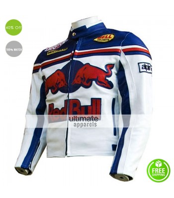 Red Bull Sports Leather Motorcycle Jacket