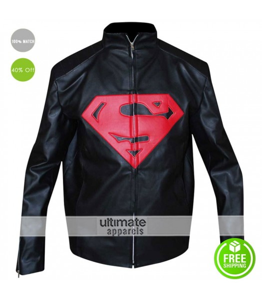 Superman 2016 Synthetic Black/Red Leather Jacket