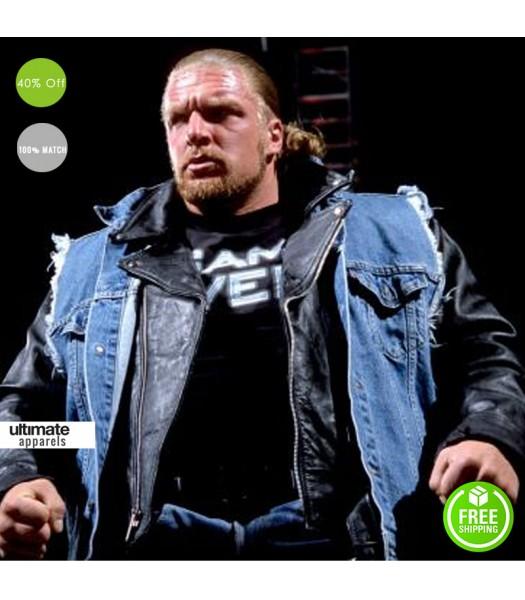 8cb1fe1f3dc1b Vintage Triple H Denim Vest With Patches