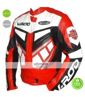 V ROD Men Wear Motorcycle Leather Jacket