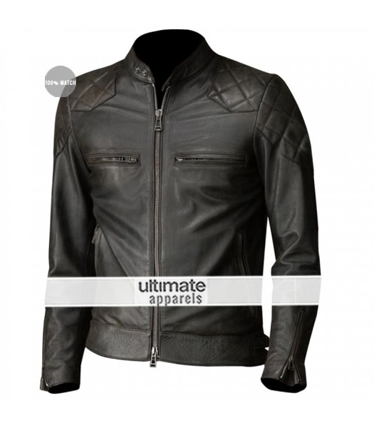 David Beckham Brazil Motorcycle Quilted Jacket