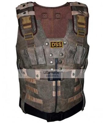 DSS Men's Brown Suede Leather Vest