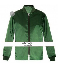 Ellie Goulding Green Bomber Jacket
