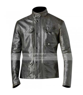 Terminator 5 Genisys Arnold Black Leather Jacket