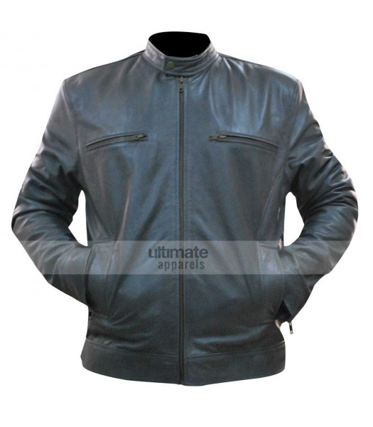 Dean Ambrose WWE Grey Replica Leather Jacket