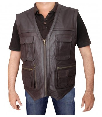 Jurassic World Chris Pratt Distressed Leather Vest