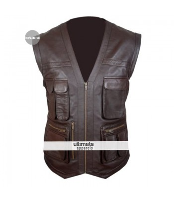 Jurassic World Women's Brown Leather Vest