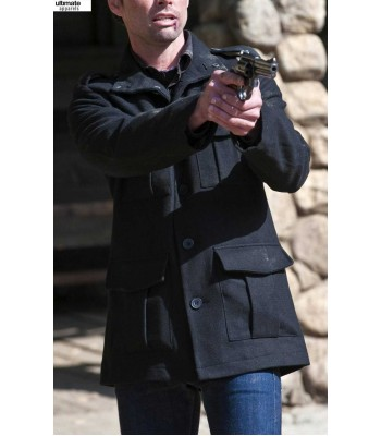 Justified Walton Goggins (Boyd Crowder) Black Coat