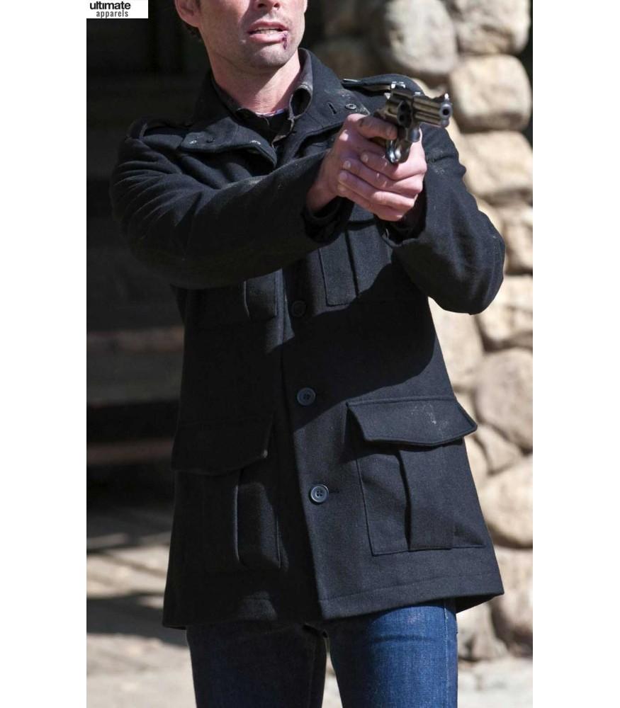 Justified Walton Goggins (Boyd Crowder) Black Coat