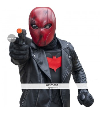 Nightwing Series Jason Todd Red Hood Black Jacket