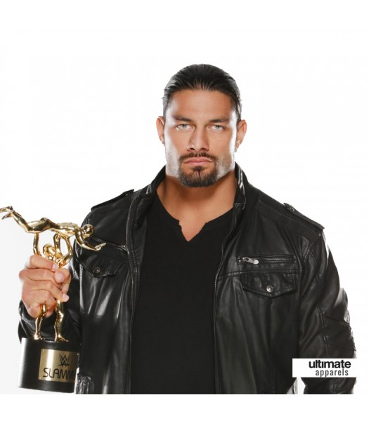 Roman Reigns WWE Awards Black Leather Jacket