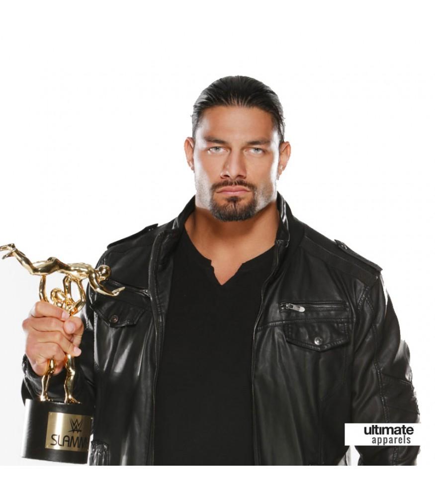Roman Reigns WWE Awards Black Leather Jacket