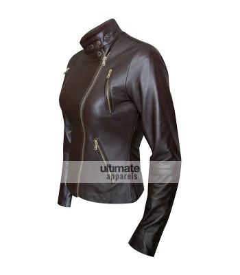 Women Brown Slim Fit UK Jacket