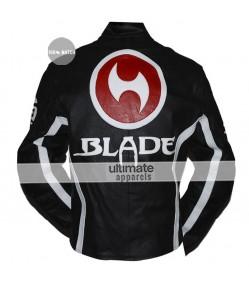 Blade Trinity Motorcycle Black Leather Jacket