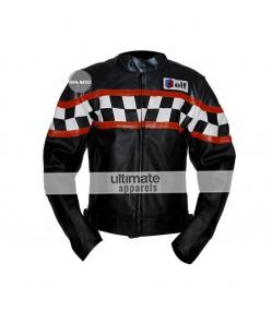Ultimate Triumph Grandprix Black Leather Jacket