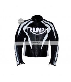Triumph Viper Paddock Black/White Motorcycle Jacket