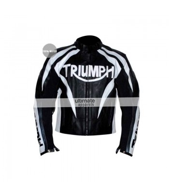 Triumph Viper Paddock Black/White Motorcycle Jacket