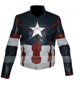 Avengers Age of Ultron Captain America New Costume Jacket