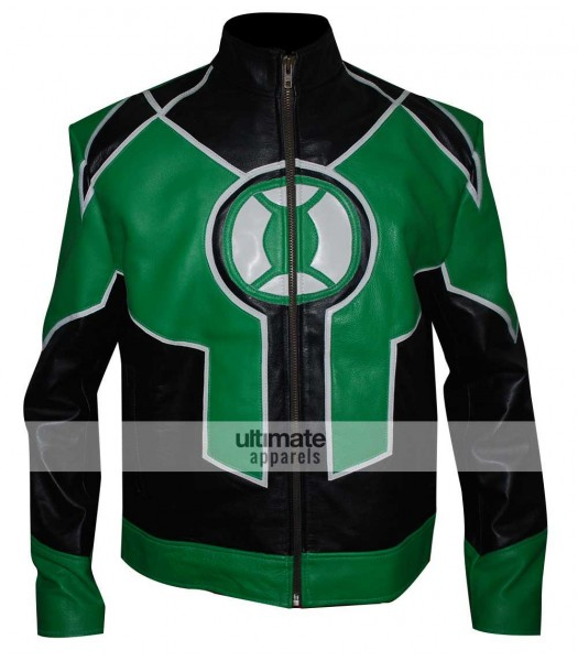 Green Lantern Ryan Reynolds Comics Motorcycle Jacket