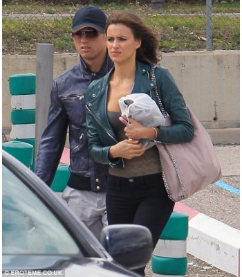 Irina Shayk Green Leather Jacket