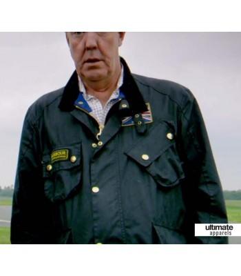 Jeremy Clarkson Barbour Black Leather Jacket