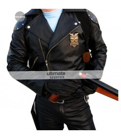 Mad Max Rockatansky (Mel Gibson) Black Biker Jacket